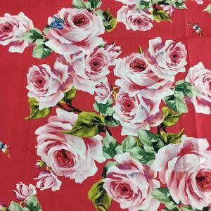 生地 ハギレ 大きめバラ 花柄 50cm ビンテージローズ ピオニー