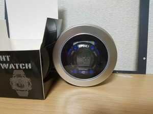 ☆BACK RIGHT DIGITAL WATCH デジタル腕時計 メンズウォッチ Gshock型 アウトドア バックライト スポーツ ブルー