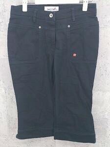 ◇ le coq sportif golf collection ルコック 刺繍 パンツ 9 ブラック * 1002799178488