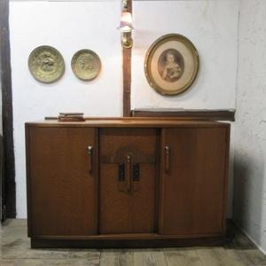 イギリス アンティーク 家具 アーコール サイドボード キャビネット食器棚 飾り棚 収納 オーク 英国 SIDEBOARD 6494b