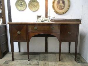イギリス アンティーク 家具 サイドボード キャビネット 飾り棚 収納 木製 マホガニー 英国 SIDEBOARD 6294b