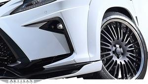 【M's】レクサス 20 RX300 RX200t RX350 RX450h F SPORT (前期) ARTISAN SPIRITS フロントバンパー ガーニッシュ 2P / CFRP+FRP カーボン