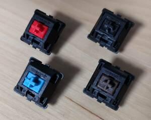 [案内用] Cherry キーボード 交換スイッチ 赤軸 青軸 黒軸 茶軸 RGB銀軸 [中古扱い] 1個(複数販売可)
