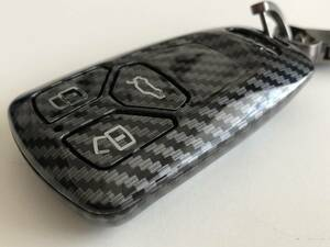 カーボン調 キーケース アウディ TT TTS TTRS R8 Q2 Q3 RSQ3 Q5 SQ5 Q7 A1 S1 A3 S3 RS3 A4 S4 RS4 A5 S5 RS5 A6 S6 RS6 A7 S7 RS7 A8 S8 b