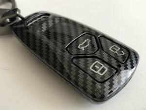 カーボン調 キーケース アウディ TT TTS TTRS R8 Q2 Q3 RSQ3 Q5 SQ5 Q7 A1 S1 A3 S3 RS3 A4 S4 RS4 A5 S5 RS5 A6 S6 RS6 A7 S7 RS7 A8 S8 c