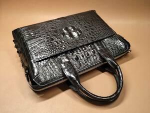値下げ中 通勤用 ワニ革保証 クロコダイル レザー 本革 ブリーフケース PC対応 出張 メンズ ビジネスバッグ トート 大容量 ハンドバッグ 鞄