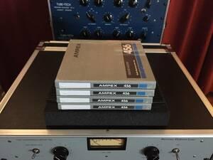 (4個SET) AMPEX 456 GRAND MASTER (暗所保管 新品未開封)Studo Mastering Audio Tape マスタリング オープンリール STUDER A80 rebox