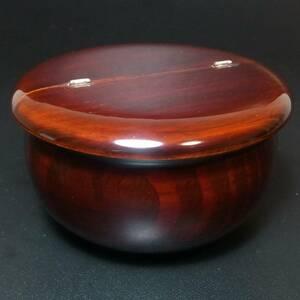 茶道具 棗 老松 重量約60g 最大幅約95mm 高さ約55mm