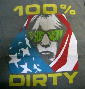 ★ソニック ユース Tシャツ Sonic Youth 100% Dirty - M 正規品 mudhoney sub pop goo nurse sister