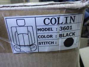 [  Неиспользованный  ]  Стойка STANCE Поддельные  кожаные чехлы для сидений     Черная кожа     Odessi    S3601B 71014-10