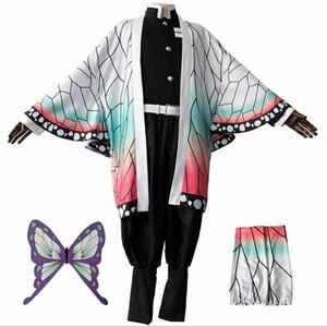 鬼滅の刃 コスチューム 胡蝶しのぶ風ハロウィンコスチュームセット XLあり