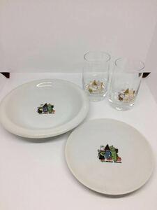 ◆稀少レア◆ミスタードーナツ【ミスド:おかえりゴブリン カレー皿×1・ガラスコップ×2】小皿◆ハロウィン モンスター