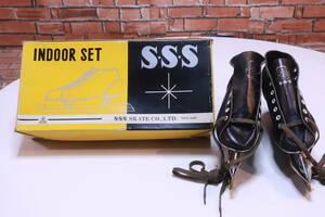 未使用! ビンテージ S・S・S スピードスケートシューズ スケート靴 22.5~23cm J-500 クローニー デックストック品■(Z2078)