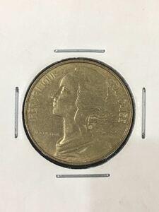 【外国コインK1828】フランス共和国 1981年 10サンチーム 直径約10㎜ コイン 硬貨
