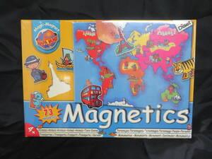 新品・未使用・保管品★ Diset ディゼット Magnetics マグネットボード 73ピース 世界 地理 知育玩具 おもちゃ 女の子 男の子 子供