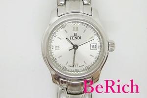 フェンディ FENDI レディース 腕時計 210L ラウンド シルバー 文字盤 SS ブレス ロゴ アナログ クォーツ QZ ウォッチ【中古】bt1907