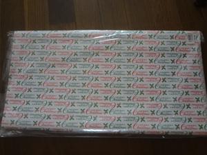 新品。かわいいクリスマス柄の包装紙、5枚セット、ラッピングペーパー、プレゼント、白