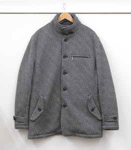 GIFUTAKE 岐阜武 INSPIRE インスパイア 中棉入りジャケット スタンドカラーコート 4L グレー HYY-68547 USED品