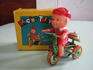 [RINGING TRICYCLE ребенок .... жестяная пластина. трехколесный велосипед (zen мой )] с коробкой