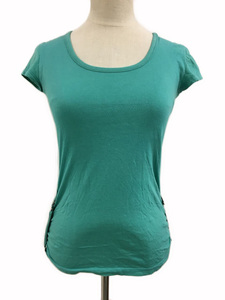 プロポーション ボディドレッシング Tシャツ プルオーバー Uネック ロールアップ 半袖 2 緑 グリーン レディース