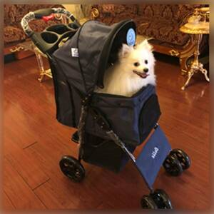 【最新最先端北欧デザイン♪★自在に動かせてペットも飼い主さんも快適!★安定感&通気性抜群♪】ペットバギー ペットカート 4輪 高耐久性