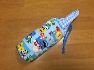 ハンドメイド☆ペットボトルケース カバー(1)☆水筒・500ml・水色・パンダ・うさぎ