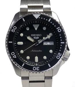 新品同様 セイコー5 スポーツ メンズ ウォッチ SBSA005 AT シースルーバック デイデイト 自動巻 腕時計 箱 ギャラ付 文字盤 裏スケ