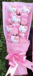букет цветок Hello Kitty Hello Kitty день рождения память день подарок праздник брак праздник . День матери Valentine Рождество цветок роза