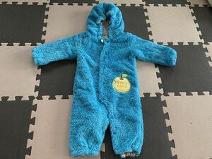 80 kid's zoo カバーオール ロンパース キッズズー 羽織り 防寒 つなぎ ベビー キッズ 子供服 コート ジャンパー フード付き 冬