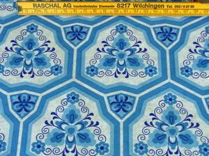 スイス製 ヴィンテージ&レトロ ワックスペーパー,包装紙 (万華鏡の様な模様)