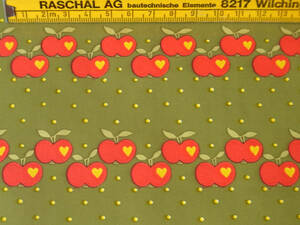 スイス製 ヴィンテージ&レトロ ワックスペーパー,包装紙 (赤いリンゴ)