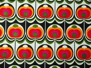 ヴィンテージ&レトロ スイス製 ワックスペーパー 包装紙 ザレトロ!リンゴの様なモチーフ