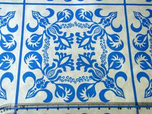 ヴィンテージ&レトロ スイス製 ワックスペーパー 包装紙 (タイルの様な模様)