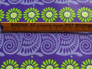 在庫わずか!スイス製 ヴィンテージ&レトロ ワックスペーパー,包装紙 (パープルのアンモナイト) 50cm×57cm