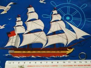 スイス製 ヴィンテージ&レトロ ワックスペーパー,包装紙 (帆船、航海グッズ)