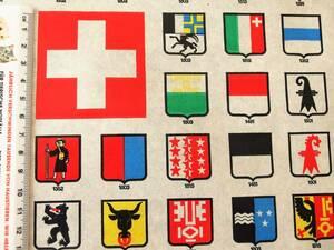 スイス製 ヴィンテージ&レトロ ワックスペーパー,包装紙 (スイスの州旗)