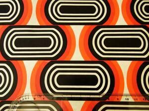 在庫わずか!スイス製 ヴィンテージ&レトロ ワックスペーパー,包装紙 (黒とオレンジのレトロ模様)
