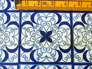 ヴィンテージ&レトロ スイス製 ワックスペーパー 包装紙 ザレトロ!ポルトガルのタイルの様なモチーフ