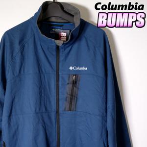 コロンビア ソフトシェルジャケット メンズ XL オムニシールド 撥水 大きいサイズ アウトドア アウター ジャンパー 古着 MCB-6-10-0077