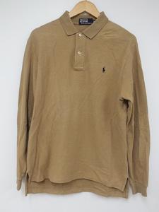 [12B-210-181-1] Ralph Lauren ラルフローレン 長袖ポロシャツ [LL] キャメル