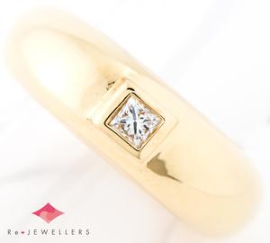 ショーメ ダイヤモンド 18金イエローゴールド 10号 リング・指輪【中古】