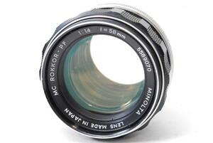 現状扱い ミノルタ MINOLTA MC ROKKOR-PF 58mm F1.4 【5589070】 ♯9139