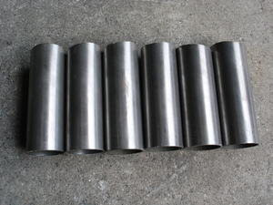 Kuromori pipe outer diameter 40mm length approximately 100mm meat thickness 1.88mm 6 pcs set