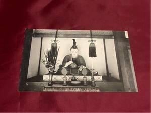 【戦前絵葉書】藤澤町 遊行寺境内 小栗判官公38歳御自作木像 大正~昭和初期(神奈川県藤沢市)