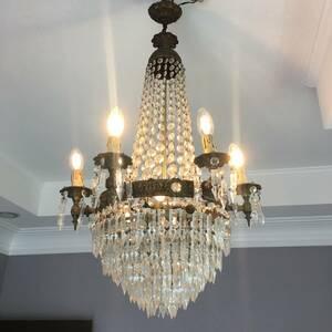 フランスアンティーク シャンデリア 10灯 エンパイア様式 アンティーク照明 アンティーク アンティーク家具 クリスタルシャンデリア