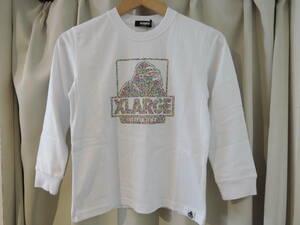 X-LARGE エクストララージ XLARGE Kids カラフルドット OGゴリラ L/S Tee 長袖Tシャツ ホワイト 130 キッズ 最新人気商品 送料込み