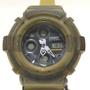 G-SHOCK ジーショック 【men1164D】 腕時計 AW-570 CASIO カシオ GAUSSMAN ガウスマン アナデジ クォーツ メンインスモーク メンズ