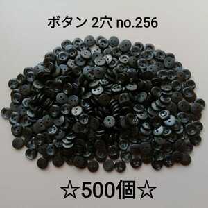 No.256 黒系 プラボタン 500個セット 2つ穴サイズ 10mm 厚み約1.5mm 手芸用品 ハンドメイド diy 目玉ボタン代用 お買い得 大量 まとめ売り