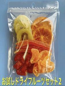 お買い得!お試しドライフルーツセットⅡ 1パック パパイヤ トマト みかん キウイ 輪切りオレンジ
