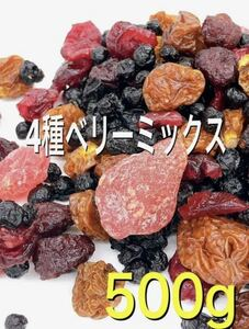 4種ベリーミックス 500g ドライフルーツ いちご インカベリー